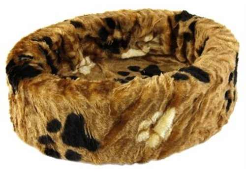 Petcomfort Petcomfort katten/hondenmand bont bruin grote poot