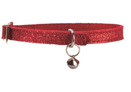 Bobby Bobby kattenhalsband glitter rood