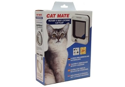 Catmate Catmate rotary kattenluik wit 4 standen