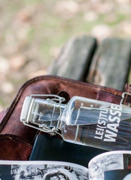 """Wasserflasche """"Lei(s)tungswasser"""""""
