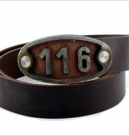 Gürtel mit Hydrantennummer-Schnalle 116