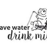 """Schnuller """"Save water, drink milk"""""""