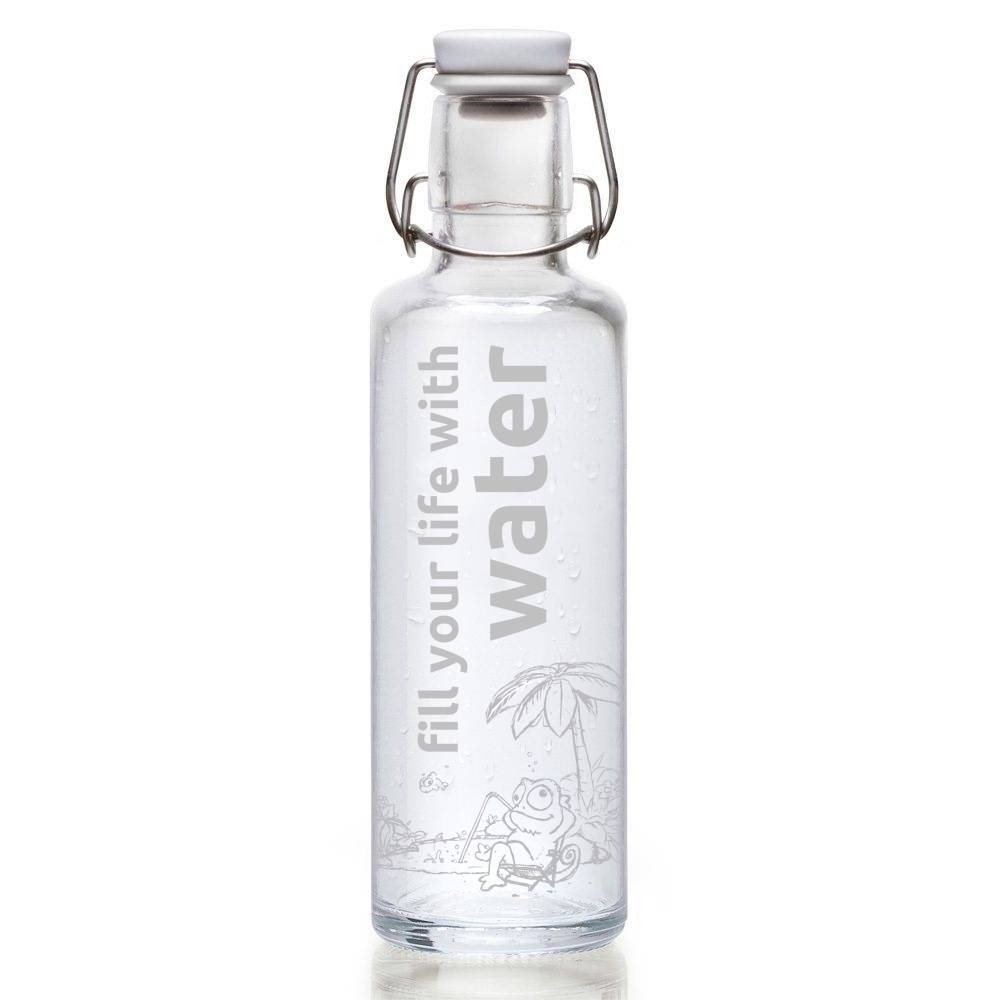 "Flasche ""Fill your life with water"""
