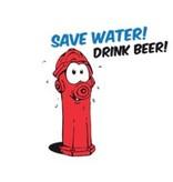 """Bierbierglas """"Save water drink beer"""""""