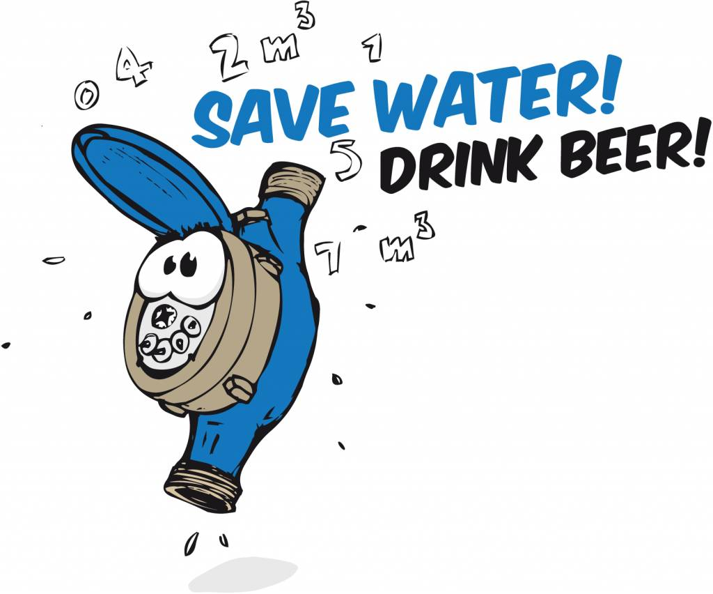 "Biertulpe ""Save water drink beer"""
