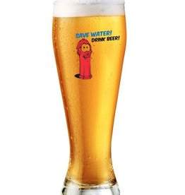 "Weizenbierglas ""Save water drink beer"""