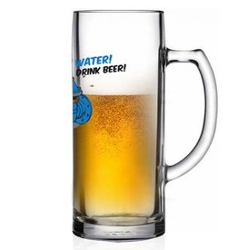 "Bierseidel ""Save water drink beer"""