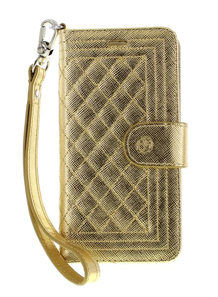 BYBI Smart Accessories Dazzling New York hoesje Goud Metallic iPhone 5S/5/SE