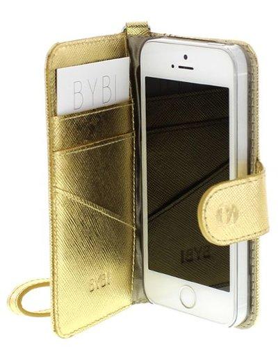 BYBI Smart Accessories Dazzling New York hoesje Goud Metallic iPhone 5S/5/SE