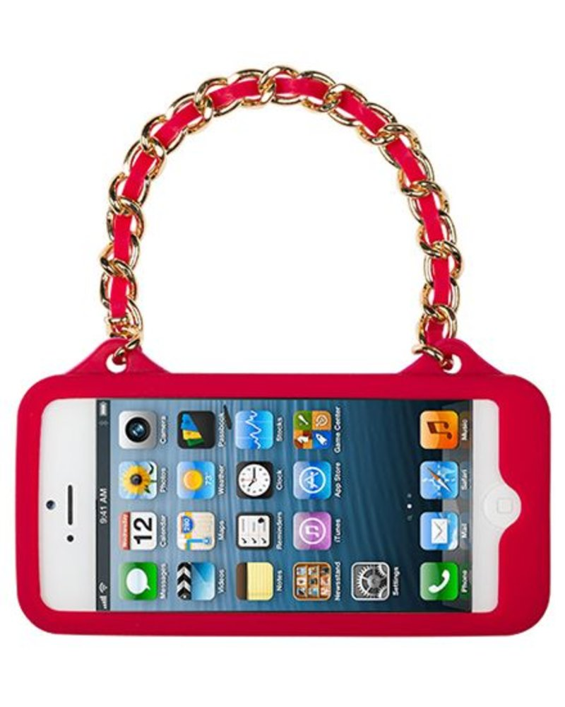 BYBI Lifestyle Fashion Brand Love Rood telefoontasje iPhone 5S/5