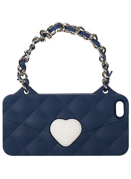 BYBI Lifestyle Fashion Brand Love Donker Blauw telefoontasje iPhone 4S/4