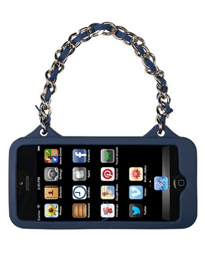 BYBI Lifestyle Fashion Brand Love Donker Blauw telefoontasje iPhone 4S/4