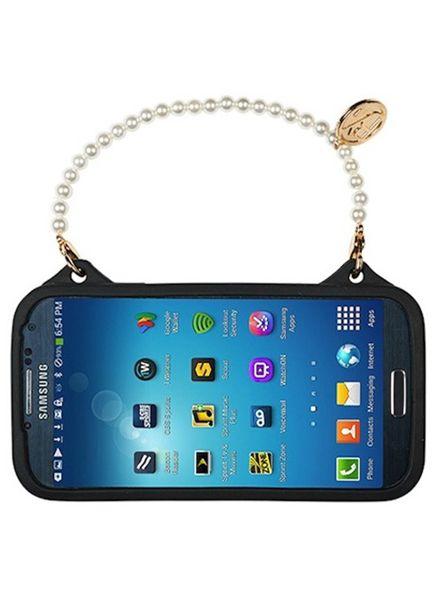 BYBI Smart Accessories Flower Zwart telefoontasje Samsung Galaxy S4