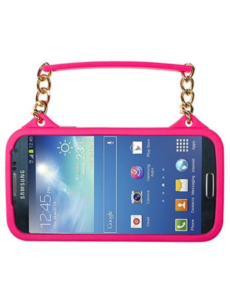 BYBI Lifestyle Fashion Brand Flower Fuchsia Roze telefoontasje Samsung Galaxy S4