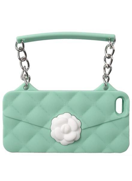 BYBI Lifestyle Fashion Brand Flower Mint Groen telefoontasje iPhone 5S/5