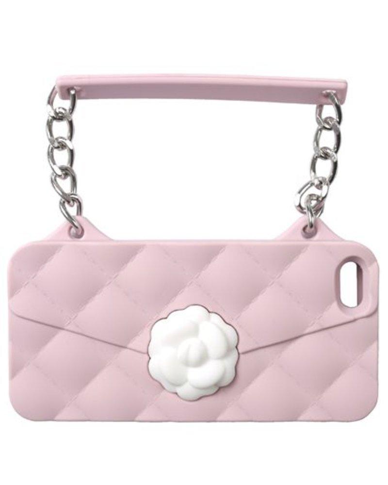 BYBI Lifestyle Fashion Brand Flower Roze telefoontasje iPhone 4S/4