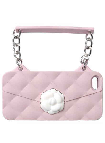 BYBI Lifestyle Fashion Brand Flower Roze telefoontasje iPhone SE