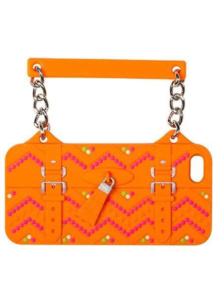 BYBI Lifestyle Fashion Brand Ibiza Oranje telefoontasje iPhone 5S/5