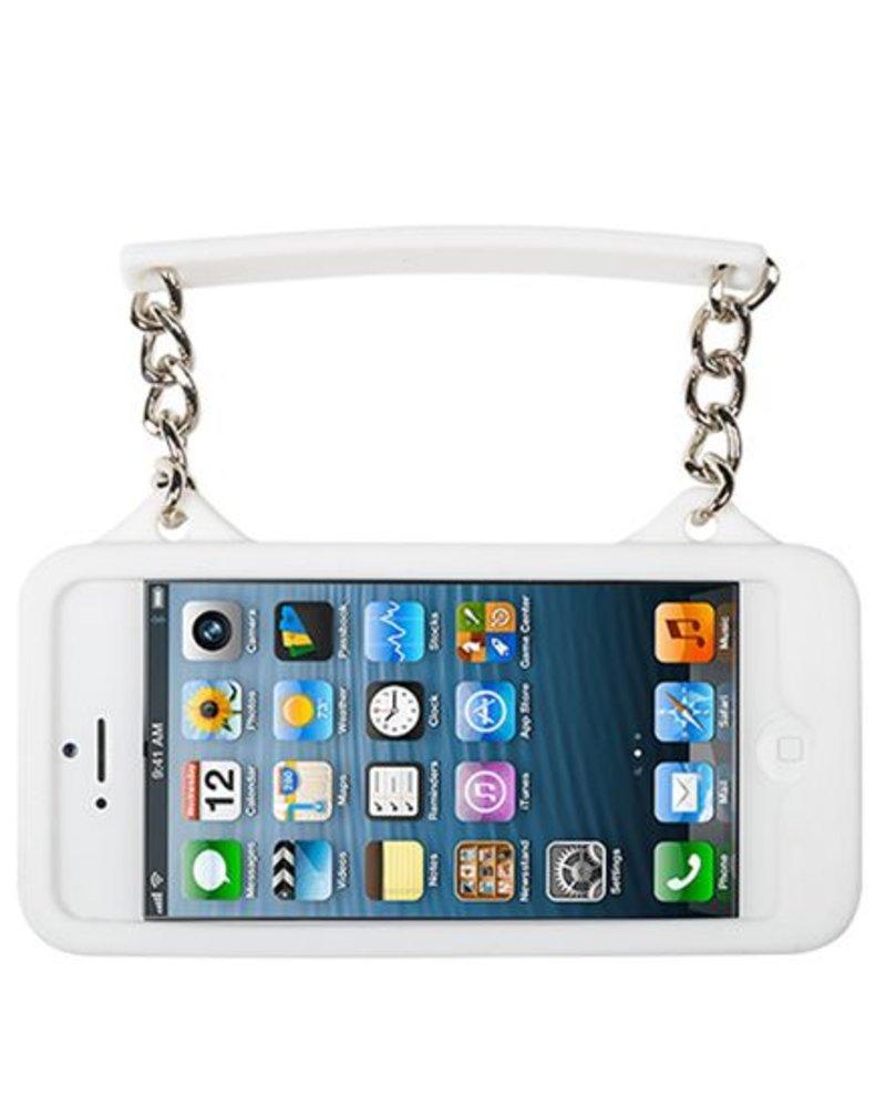 BYBI Lifestyle Fashion Brand Ibiza Zwart/Wit telefoontasje iPhone 4S/4