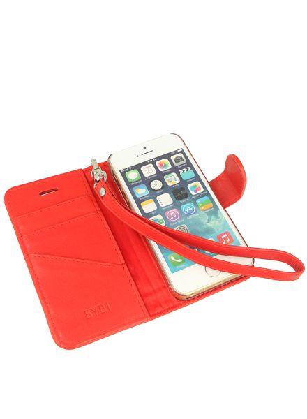 BYBI Smart Accessories Memorable Milano Hoesje Rood iPhone 5S/5