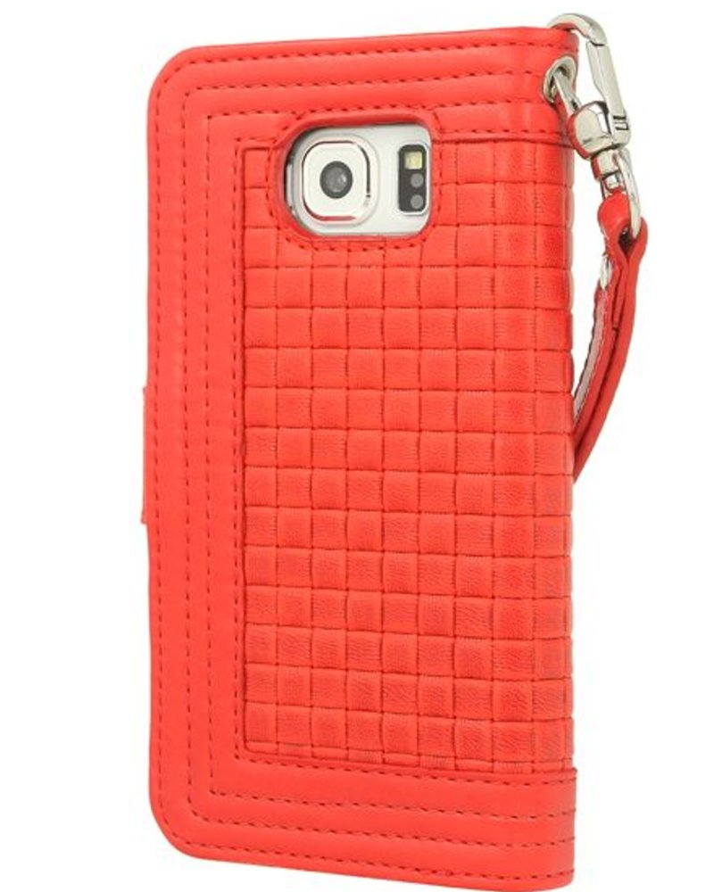 BYBI Lifestyle Fashion Brand Memorable Milano Hoesje Rood Samsung Galaxy S6