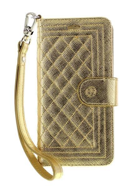 BYBI Smart Accessories Dazzling New York Hoesje Goud Metallic iPhone SE