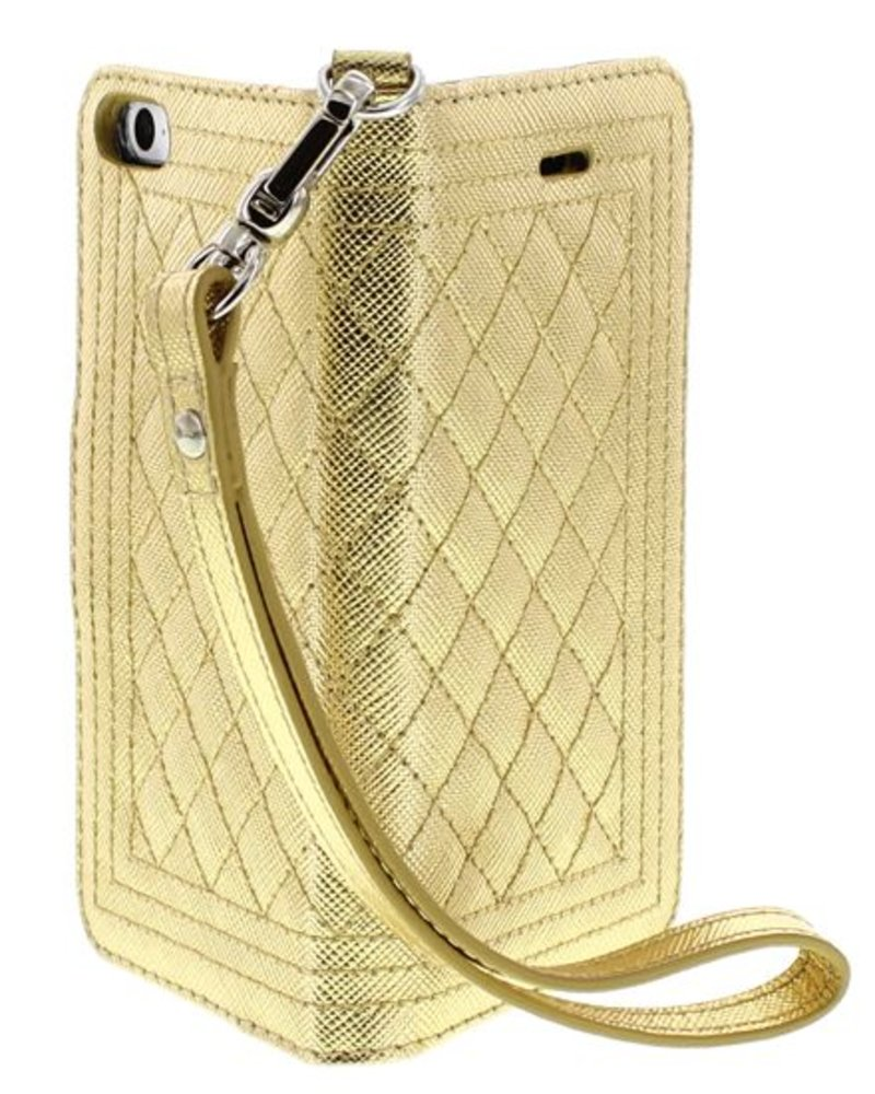 BYBI Lifestyle Fashion Brand Dazzling New York Hoesje Goud Metallic iPhone SE