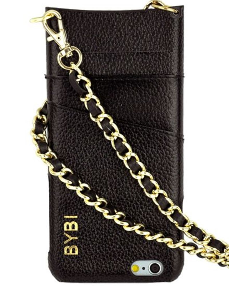 BYBI Lifestyle Fashion Brand I Am Stylish Hoesje Zwart Wrapped in Leer iPhone 6S/6