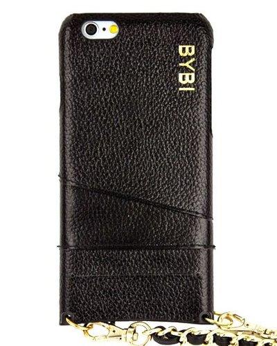 BYBI Smart Accessories I Am Stylish Hoesje Zwart Wrapped in Leer iPhone 6S/6