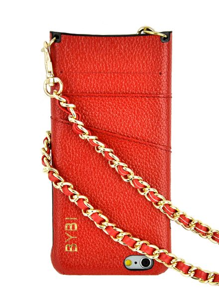 BYBI Smart Accessories I Am Stylish Hoesje Rood Wrapped in Leer iPhone 6S/6