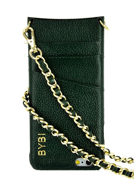 BYBI Smart Accessories I Am Stylish Hoesje Groen Wrapped in Leer iPhone 6S/6