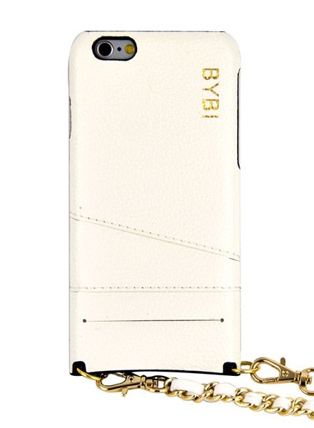 BYBI Smart Accessories I Am Stylish Hoesje Wit Wrapped in Leer iPhone 6S/6