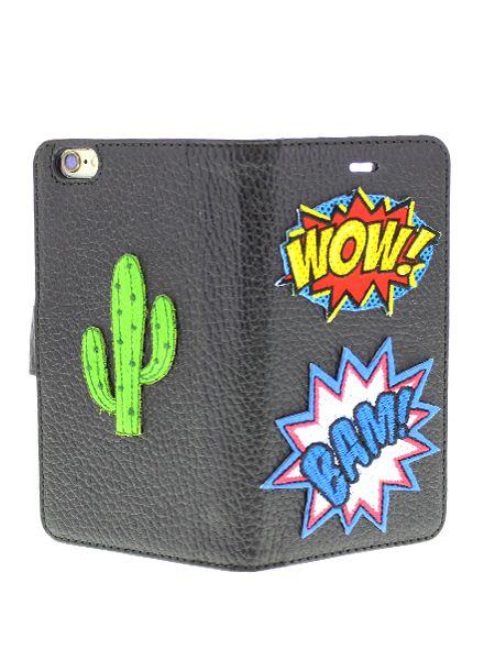 BYBI Smart Accessories Patch Wow Zwart iPhone 6S/6