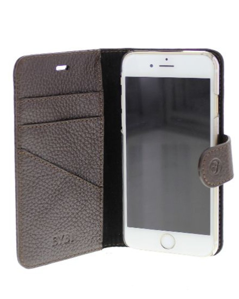 BYBI Lifestyle Fashion Brand Classic Donker Bruin iPhone 7