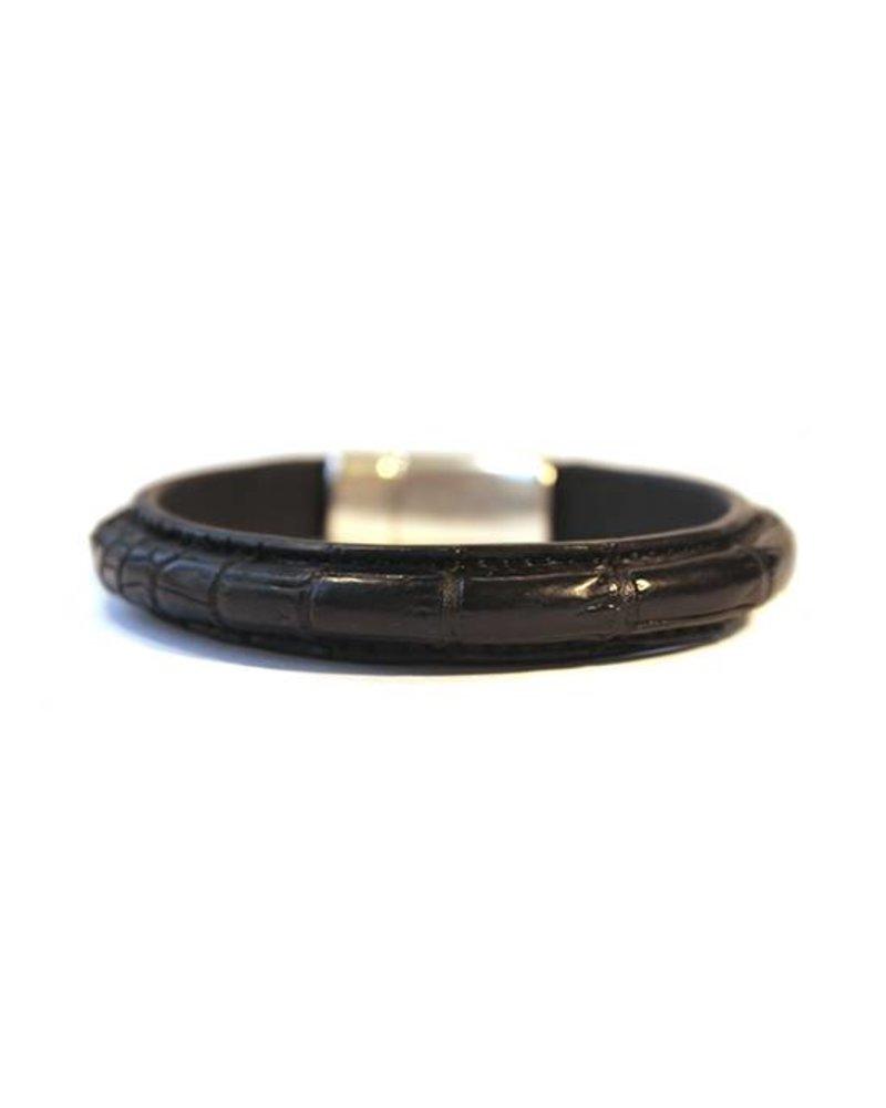 DLHC Croco armband large zwart