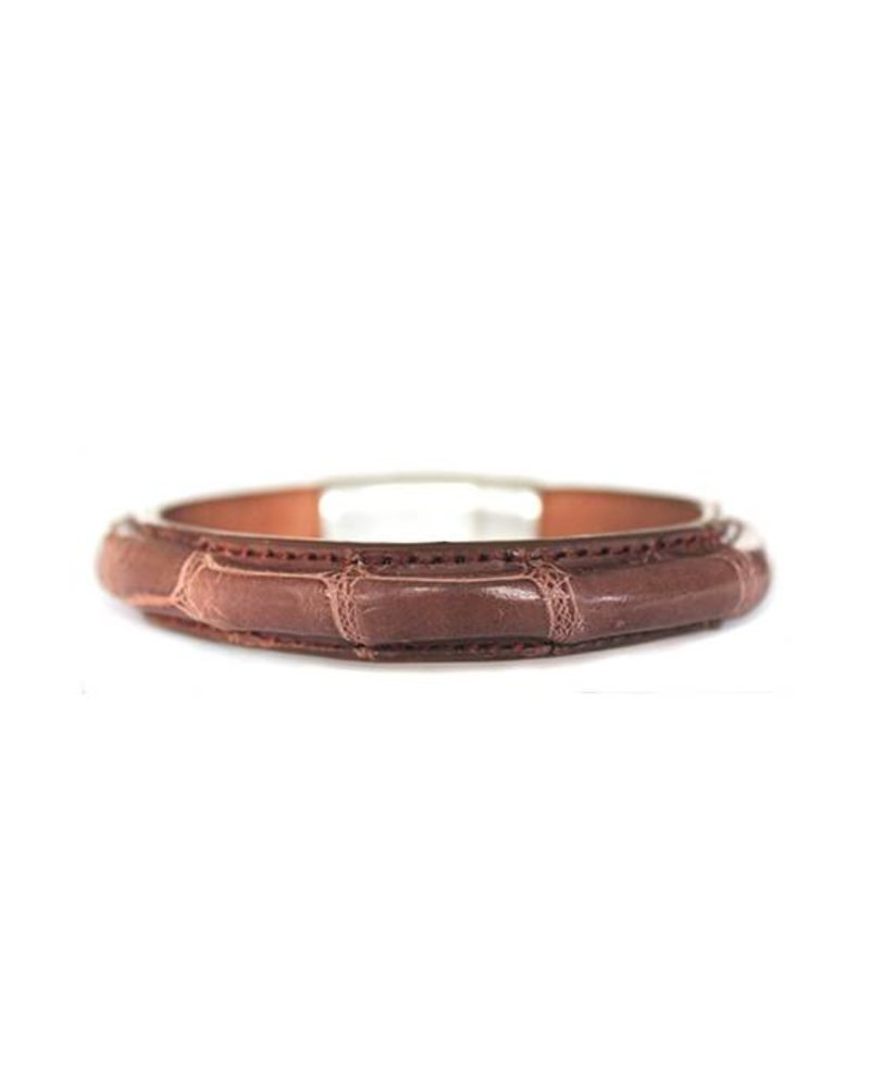 DLHC Croco armband large bruin
