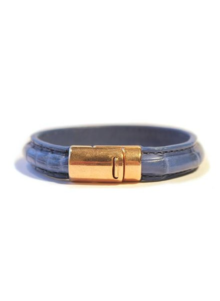 DLHC Croco armband medium blauw