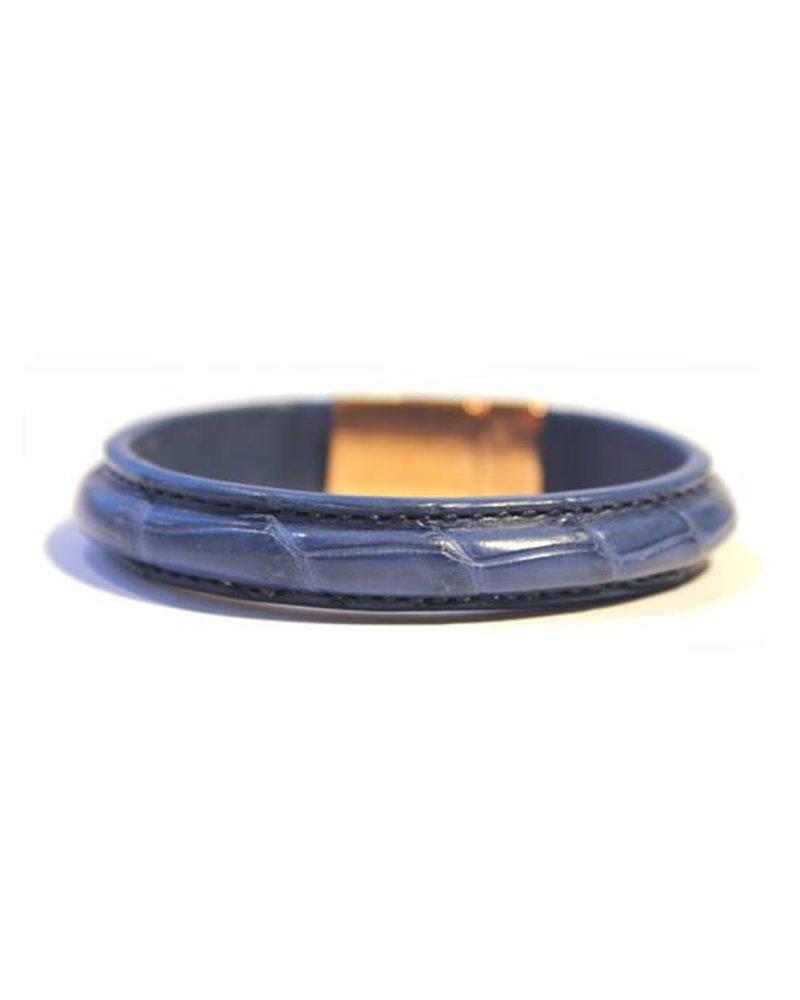 DLHC Croco armband medium blauw
