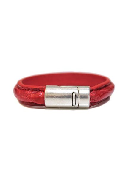 DLHC Croco armband medium rood