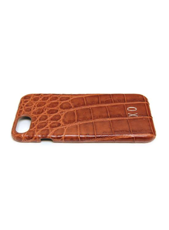 XO XO luxury croco Cognac iPhone 7