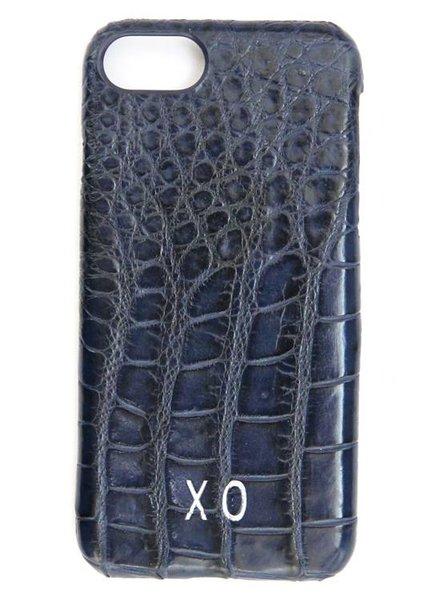 XO XO luxury croco Blauw iPhone 7