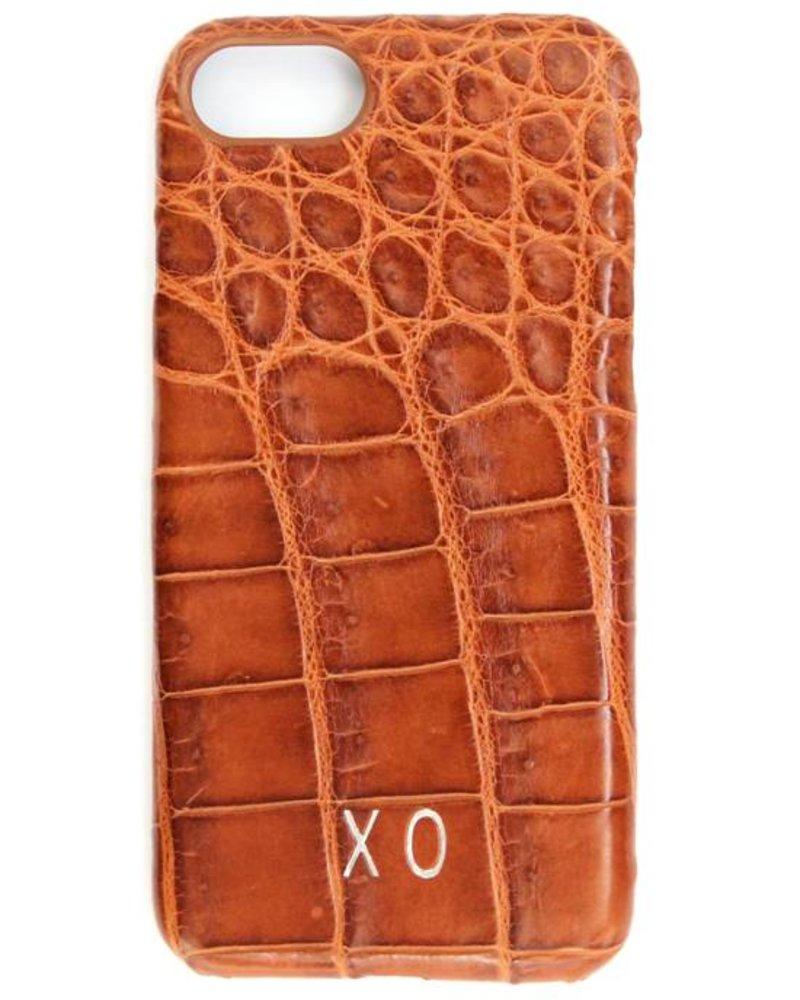 XO XO luxury croco Cognac iPhone 7