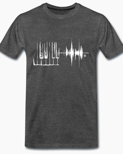 djl. Mannen T-shirt Premium Grijs Piano