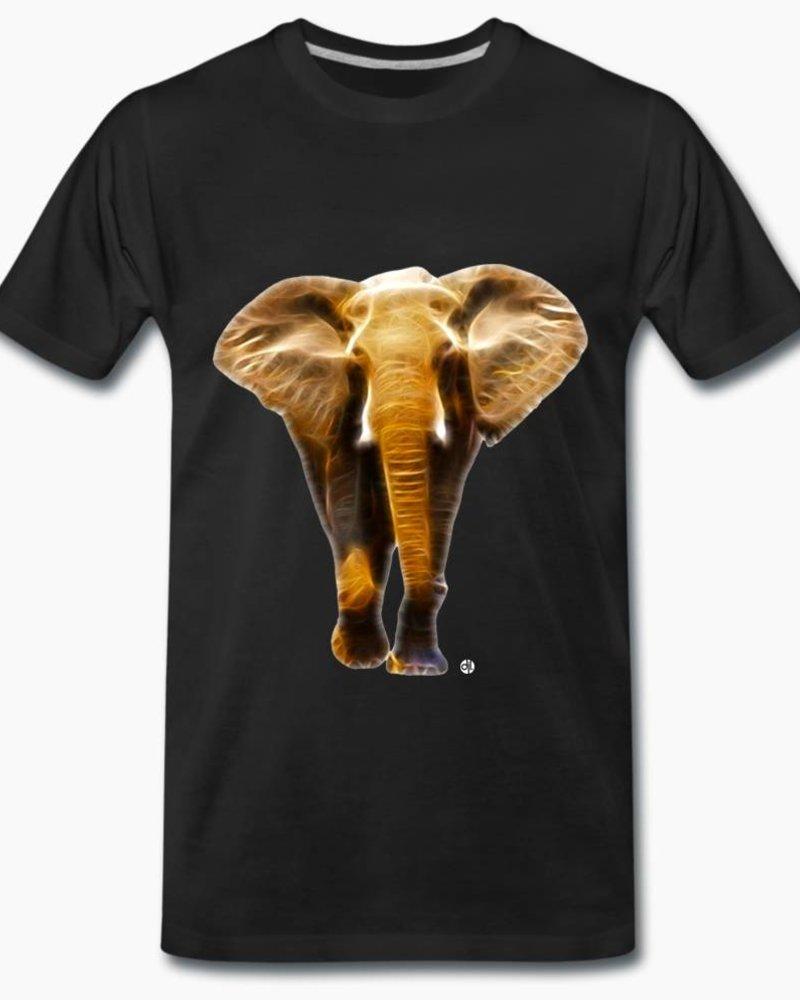 djl. Mannen T-shirt Premium Wit Elephant