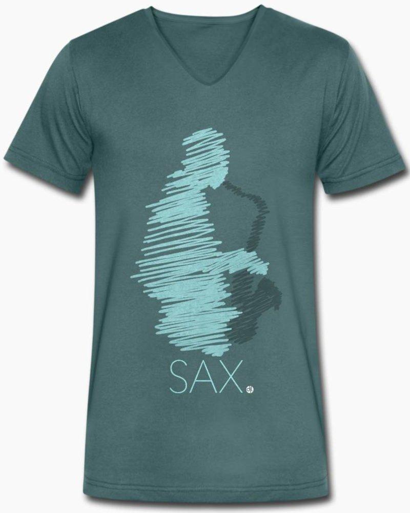 djl. Mannen V-shirt Premium Mint Sax