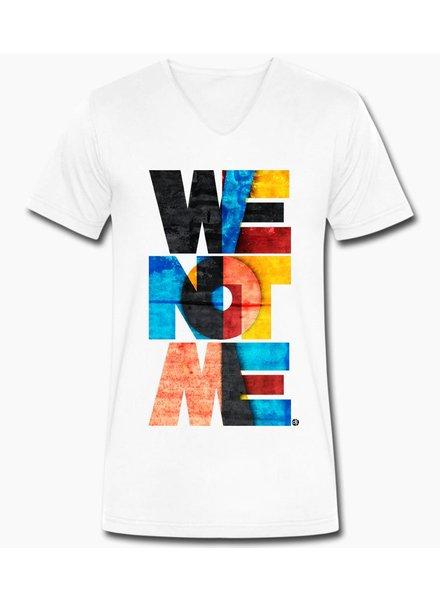 djl. Mannen V-shirt Premium Wit WeNotMe