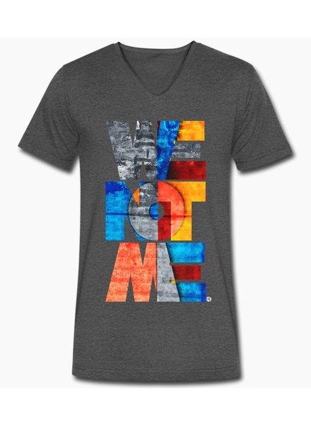 djl. Mannen V-shirt Premium Grijs WeNotMe