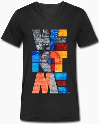 djl. Mannen V-shirt Premium Zwart WeNotMe