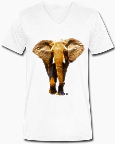 djl. Mannen V-shirt Premium Zwart Elephant