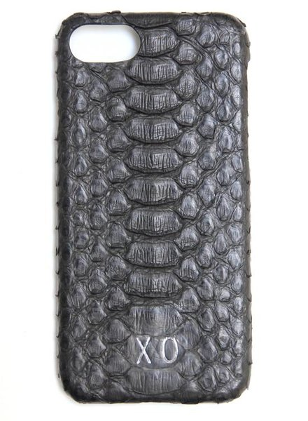 XO XO luxury python Zwart iPhone 8